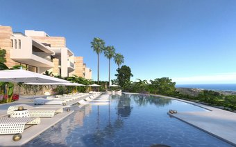 3 bedroom apartment in costa del sol, ojen