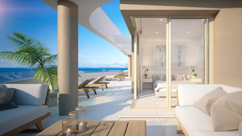 Piso en primera l nea de playa en venta en mijas m227827 - Pisos de bancos primera linea de playa ...